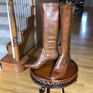 Franco Sarto size 8 brown boots man made material